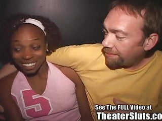 Tampa swingers lacey Ebony tampa theater slut gets full facial anal creampie