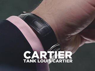 Latex rotate caption - Cartier tank americaine in steel wrist rotation