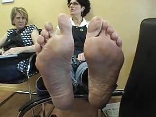 Mature feet up Mature clerk feet