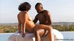 African Lovers Try Sex Outdoors