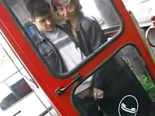 Handjob on phone - Handjob in phone booth