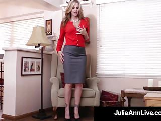 Hot pussy blonde sex video Busty milf julia ann bangs her hot pussy with a dick dildo