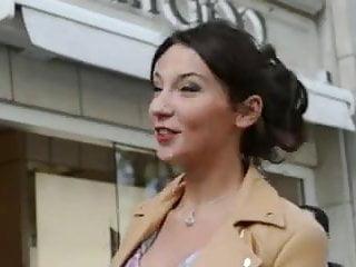 Erotic dressing high heels lipstick Teen shopping public in high heels dress upskirt