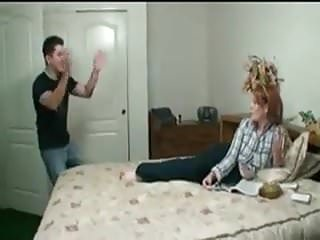 Teens dealing with parenting Stp1 stepbrother does a deal to fuck her