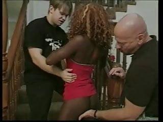 Skinny black girls tgp - Skinny black girl gets double teamed on stairs-mih