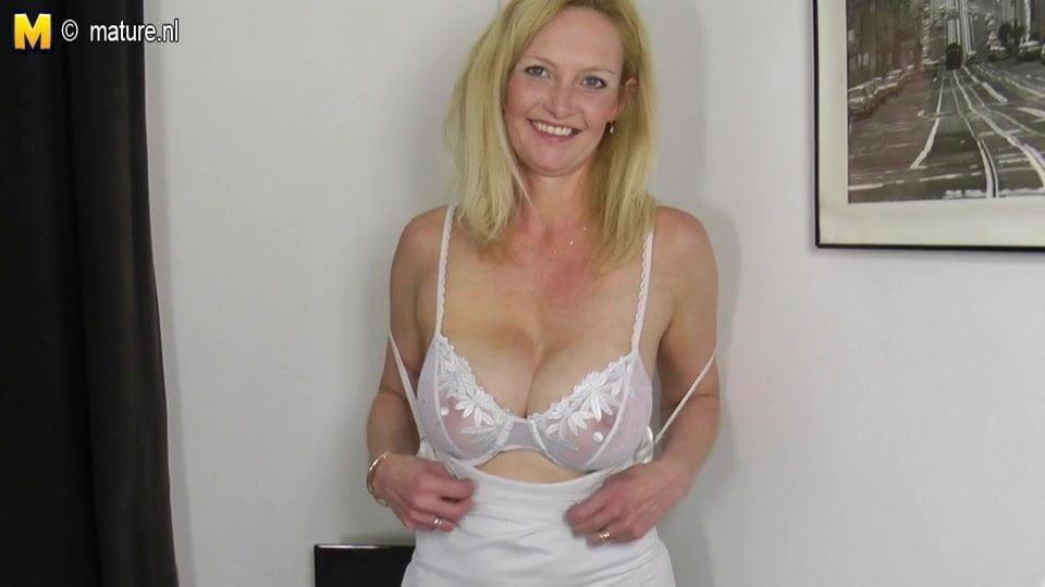 Mature Blonde Reverse Cowgirl