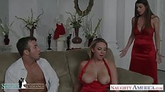 Cuties Brooke Wylde and Brooklyn Chase share cock at wedding