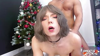 Elf Girl for Christmas Instead of Toys - Deepthroat and Sex