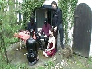 Master thomas bdsm Master and 2 slaves play out doors...bmw