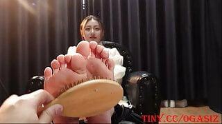 Tickle Asian Girl Feet