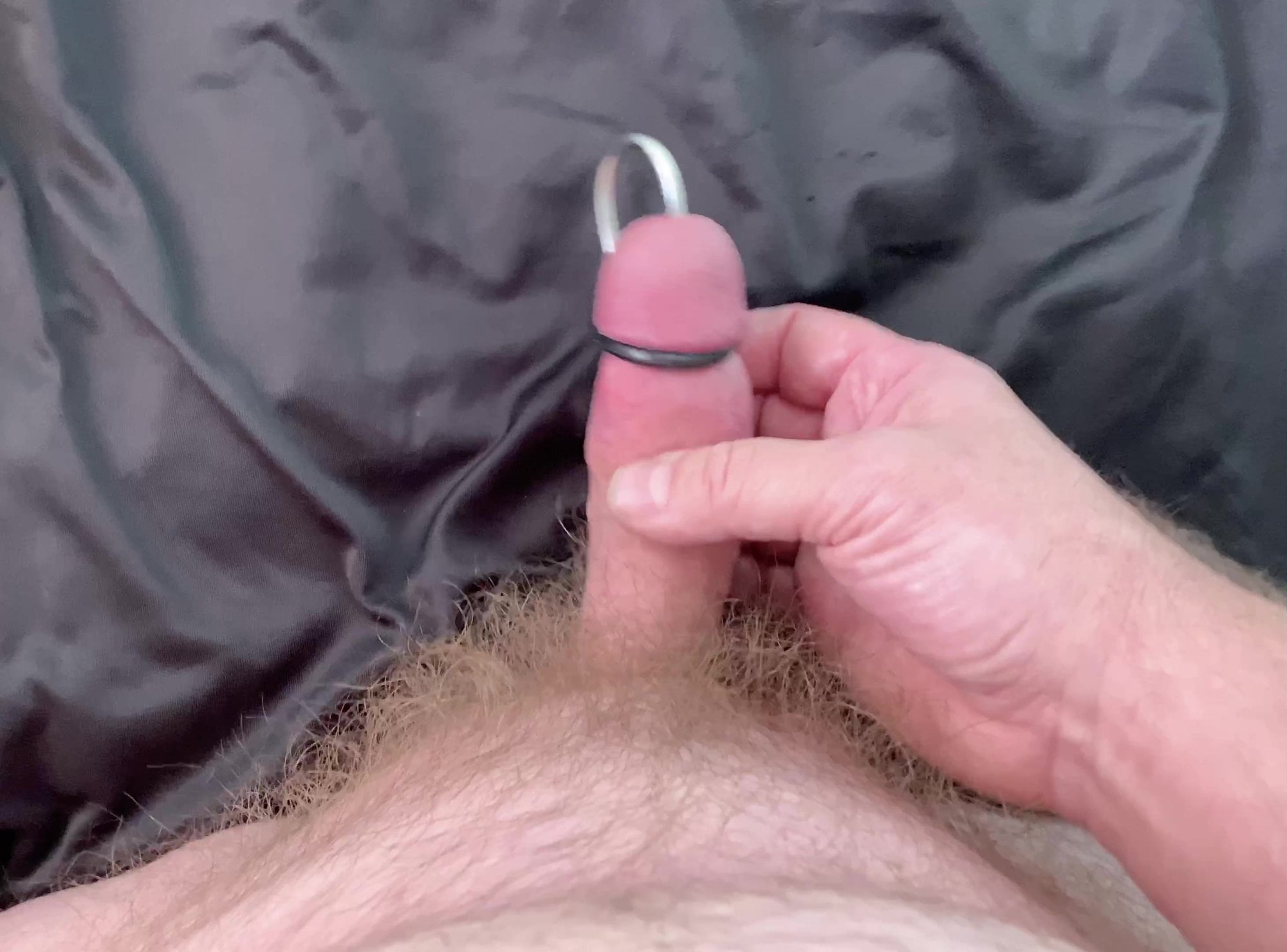 Sounding cock to cum in the tubule