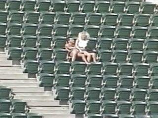 Sex at stadium Couple having sex at the stadium