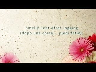 Fetish foot sniffing Smelly feet after jogging foot sniffing domination