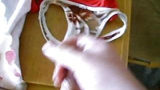 Cumming on a pair of stolen silk panties