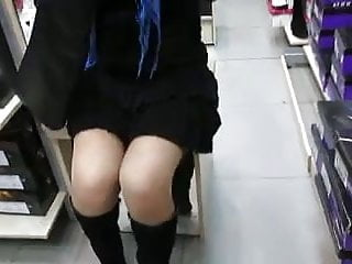 Asian stock market indices Girl in stockings in shoe-market 1