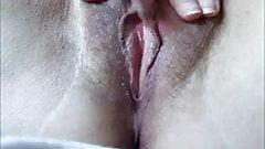 Close up masturbation with pussy orgasm
