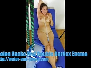 Milf enema Colon snake and double bardex enema