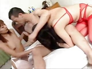 One girl two guys nude - Japanese threesome two girls one lucky guy