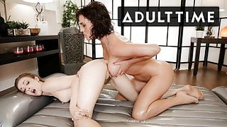 Sexy Masseuse Uses Squirt Juice to Scissor - ADULT TIME