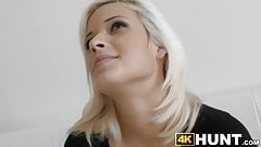 Babe fucked hard by neighbor while greedy cuckold watches