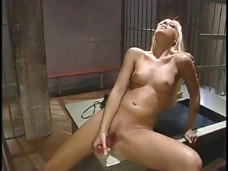 Blondes with pretty pussy - Young blonde fucks her pretty pussy in the set with a dildo