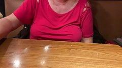 Granny Braless Restaurant Table