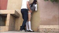 Schoolgirl runs away from school with a boy