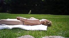 topless sunbathing - masturbation - orgasm