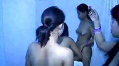 Group of nepali teens taking nude bath together