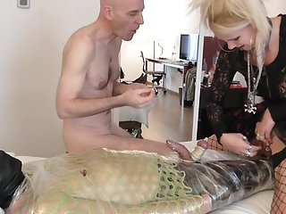 Food use for sex - Sadobitch - pussy food and ball fuck