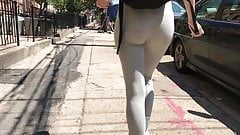 Skinny teen ass in leggings (jiggle) part 1