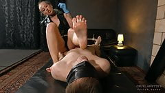 Clean the cum - Mistress Anette - Forced male orgasm