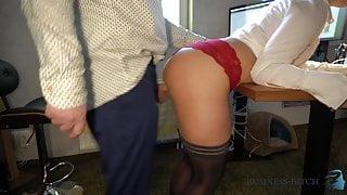 dominant female boss enjoys bellybutton fuck - business-bitch