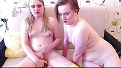 Sex and cum compilation June 2020 - tgirl Astra + girl Nicky