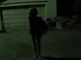 Dancing naked in the night Naked in the yard at night
