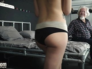 Old sex link hardcore Tera link is fucked hard by an old man