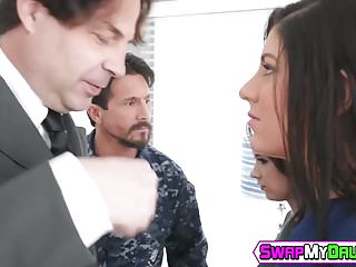 Teenagers getting spanked Teenage slut athena rayne gets drilled by stepdads friend