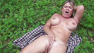 Slut Diane Masturbating Outdoor