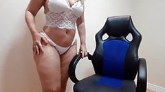 sensual white lingerie dance with nudity