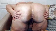 Webcam private Arsch-Show, fette Reife
