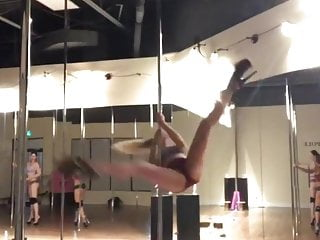 Nn teen modelling Nn teen on a strippers pole - part 2