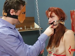 Smack the ass game Redhead smacked as she dances in chains, fucked in all holes