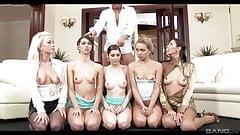 Lesbian golden shower audition orgy