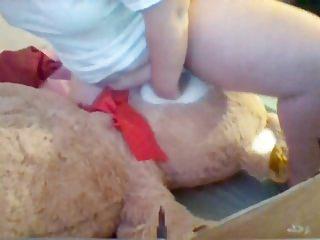 Homemade chubby girl Young chubby girl humps giant teddy till orgasm