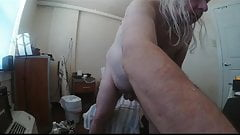 unclamping nips n scrotum. jiggling fat apron and manboobs