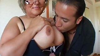 Carole, French BBW granny analfucked