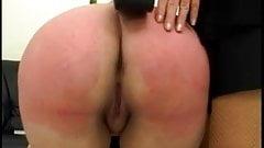 Lezdom spanking