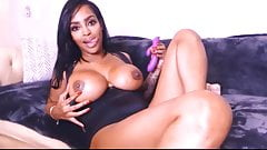 Sexiest ebony babe squirting scene EVER