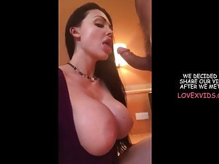Amateur busty model Busty instagram model sucks my cock for money