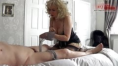 nylon play on cock with foot worship